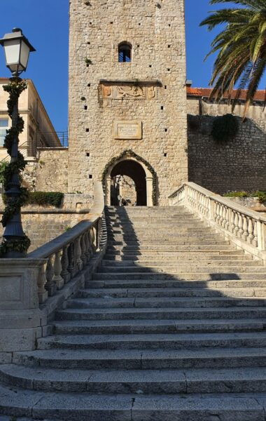 Main gate for Korčula Old town, Korčula island, Croatia, photo by croatia2go.com