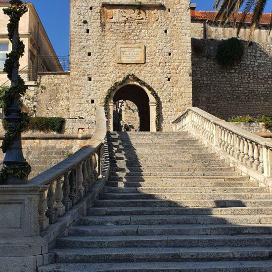 Main gate for Korčula Old town, Korčula island, Croatia, photo by croatia2go.com