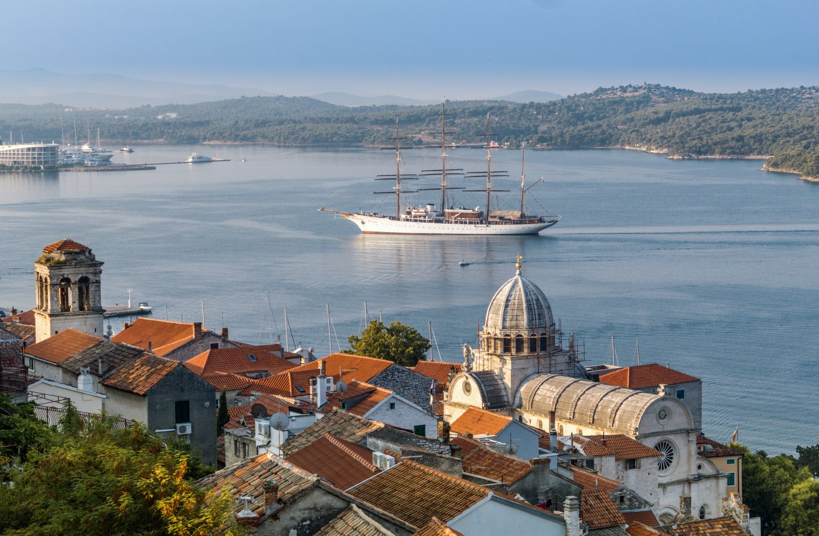 Šibenik, panorama view from the fortress, foto by Dream Division, photo credit TB of Dalmatia-Knin county