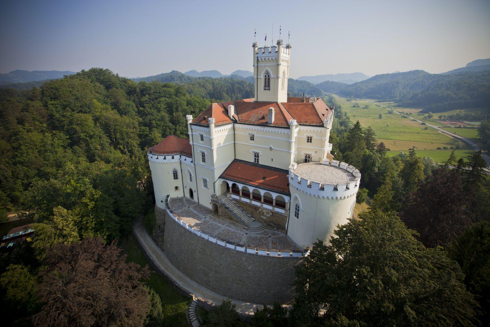Trakošćan castle, Croatia, photo credit by Trakošćan museum